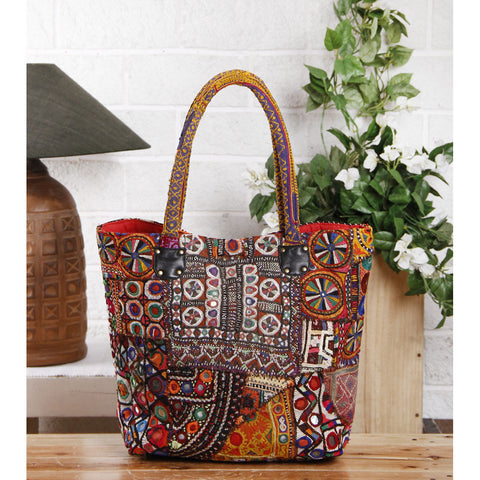 Multicolored Embroidered Afghani HandBag