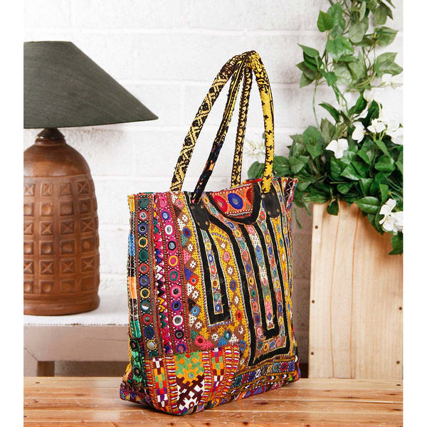 Bag - Multicoloured Embroidered Afghani Bag