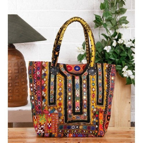 Multicoloured Embroidered Afghani Bag (100000052926) - rang