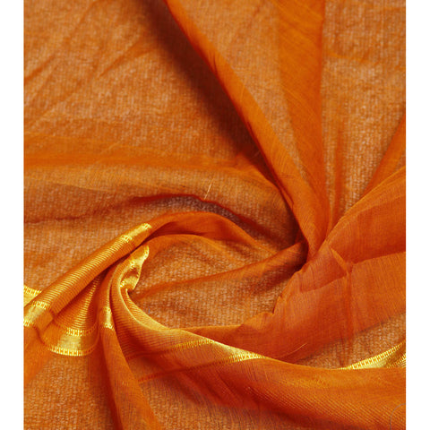 Orange Handloom Cotton Saree
