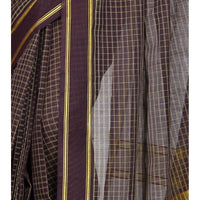 Purple Handloom Cotton Saree (100000055387) - rang