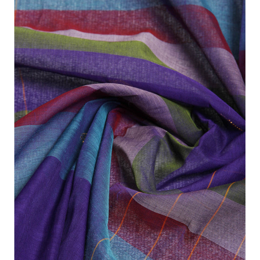 Purple Handloom Cotton Sarees