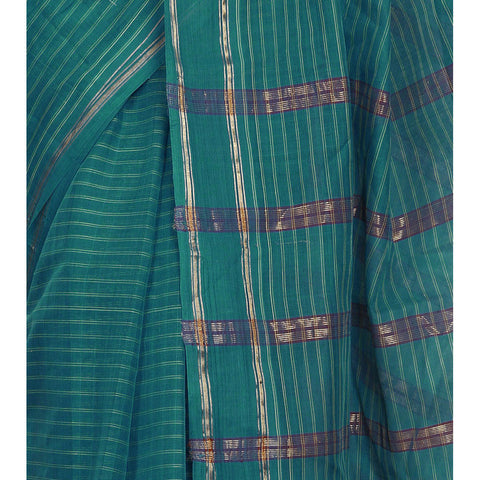Saree - Blue Handloom Cotton Saree