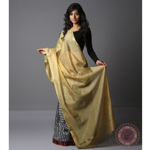 Golden Cotton Silk Dupatta