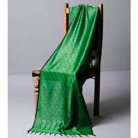 Green Cotton Silk Stole - rang