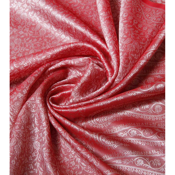 Dull Red Cotton Silk Stole - rang
