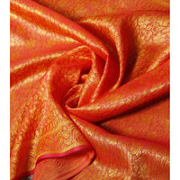 Pink & Yellow Cotton Silk Stole - rang
