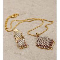 Golden And White Necklace Set - rang