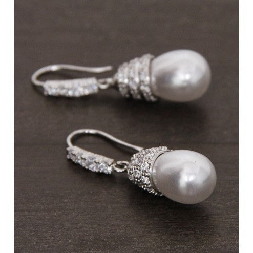Silver Embellished Earrings (100000061618)
