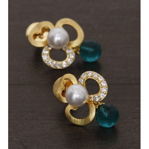 Golden Embellished Earrings (100000061626)