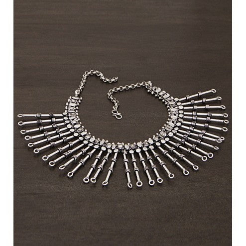 Silver Embellished Necklace (100000061633)