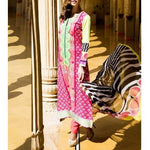 Pink Cotton Unstitched Churidar Suit (100000060661) - rang