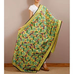 Yellow Chanderi Silk Phulkari Dupattas - rang