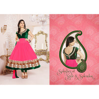 Pankhudi Georgette Semi Stitched Anarkali Suit - rang