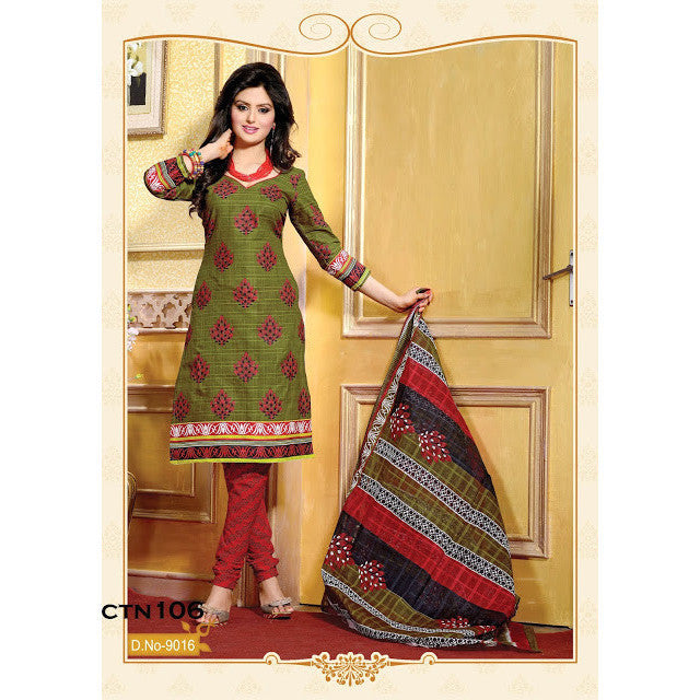 Mahendi Cotton Salwar Kameez Dress Material