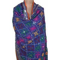 Shopatplaces - Phulkari Dupatta for women In Royal Blue in USA - rang