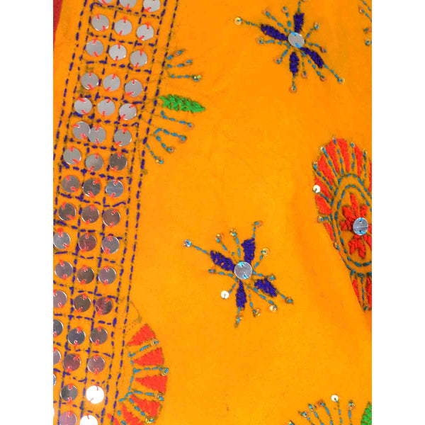 Shopatplaces - Phulkari Dupatta In Deep Yellow for women in USA - rang