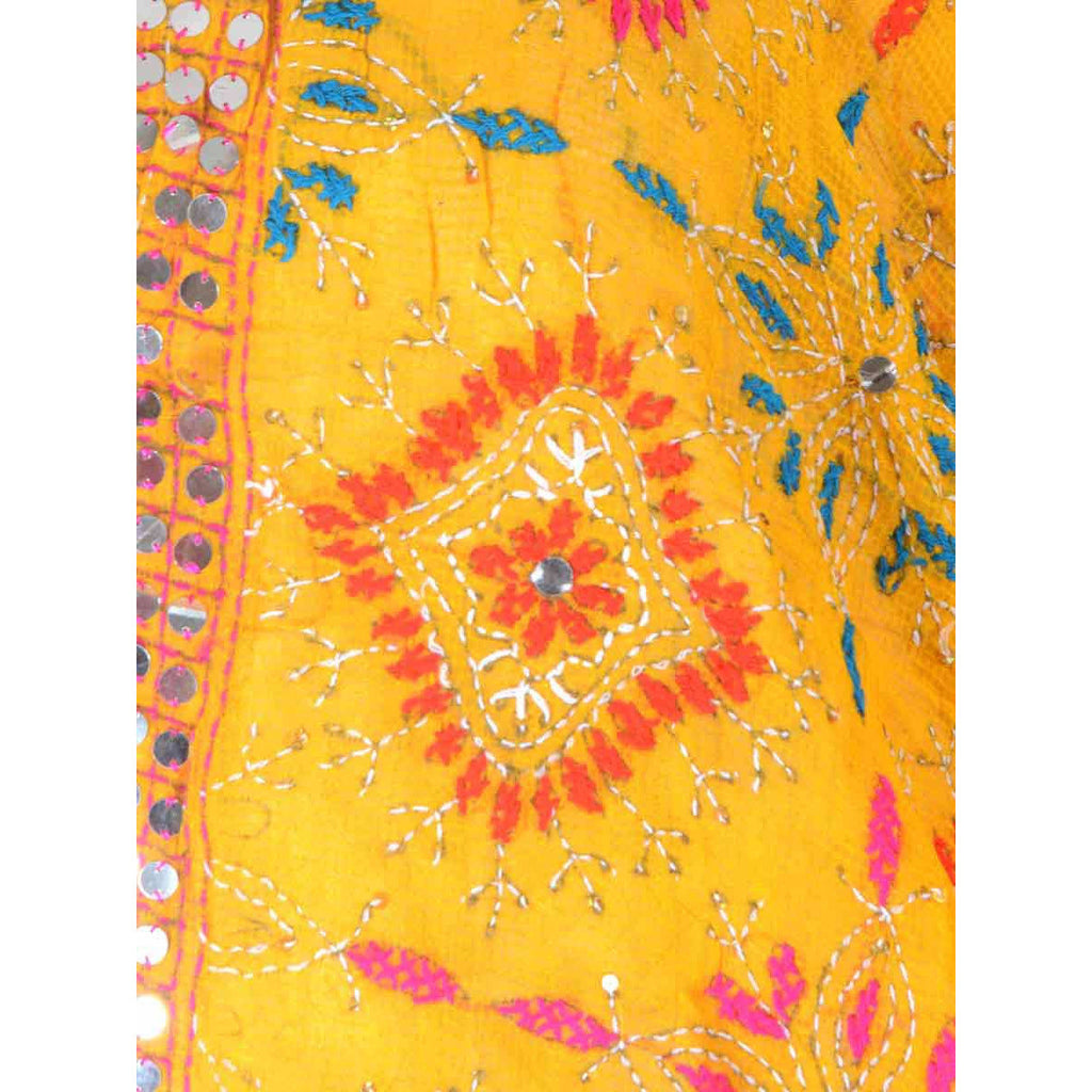 Shopatplaces - Phulkari Dupatta In Yellow for women in USA