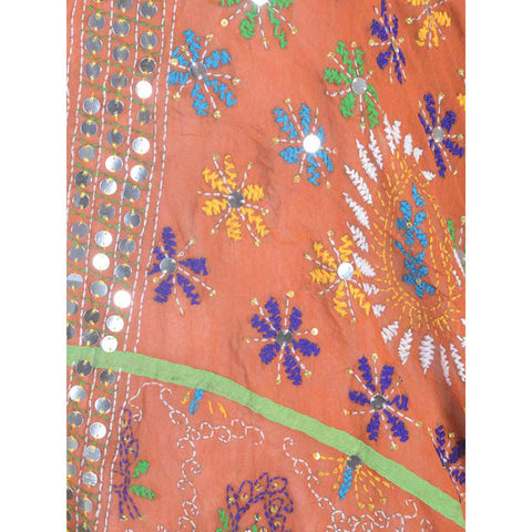 Shopatplaces - Phulkari Dupattas In Orange for women in USA