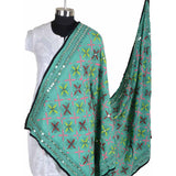 Shopatplaces - Phulkari Dupattas for women In Sky Blue in USA - rang