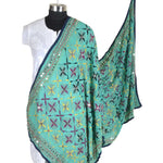 Shopatplaces - Phulkari Dupatta for women In Sky Blue in USA