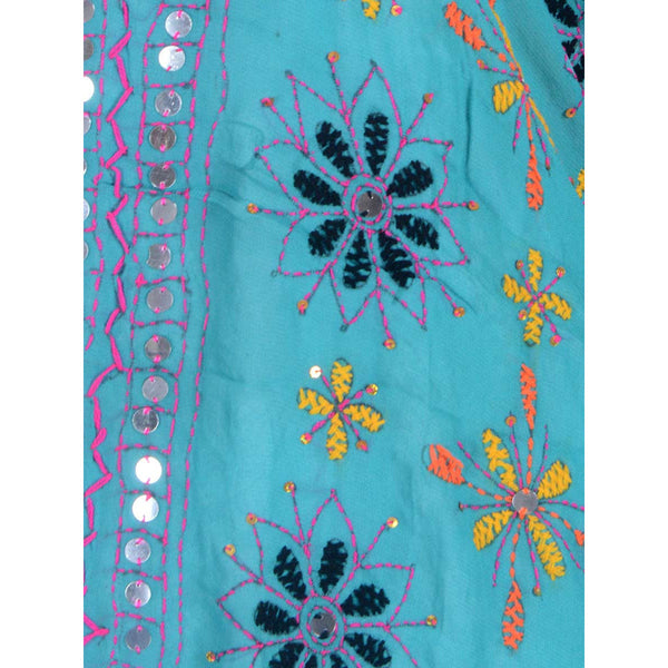 Shopatplaces - Phulkari Dupattas In Sky Blue for women in USA