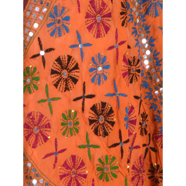 Shopatplaces - Phulkari Dupatta In Orange for women in USA - rang