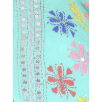 Shopatplaces - Phulkari Dupatta In Sky Blue for women in USA - rang