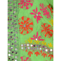 Shopatplaces - Phulkari Dupatta In Light Green for women in USA - rang