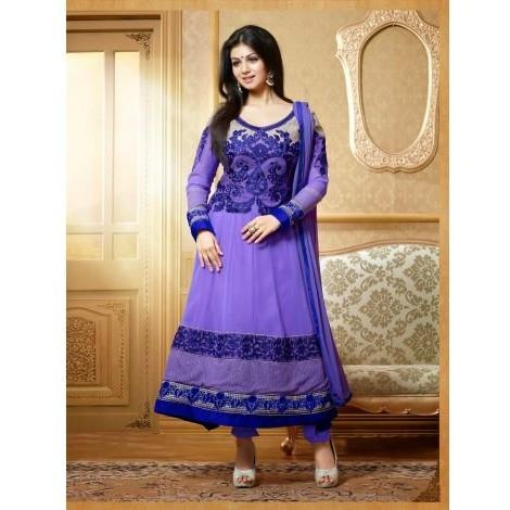 Ayesha Takia - Blue Embroidered Anarkali Suit Set 15001