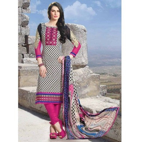 Pink Cotton Anarkali Suit Churidar Salwar Kameez