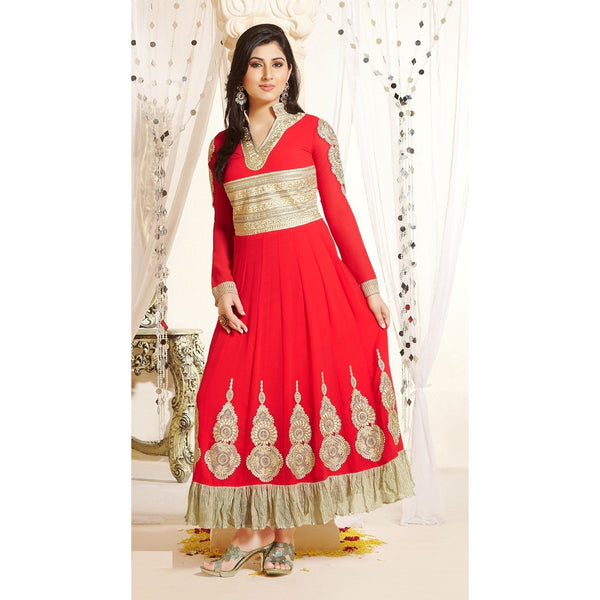 Hypnotex - Heavy sequince & embroidery Georgette salwar suit with leheria border - rang