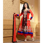 Ayesha Takia - Georgette Embroidered Orange Long Anarkali Suit - 15012 - rang