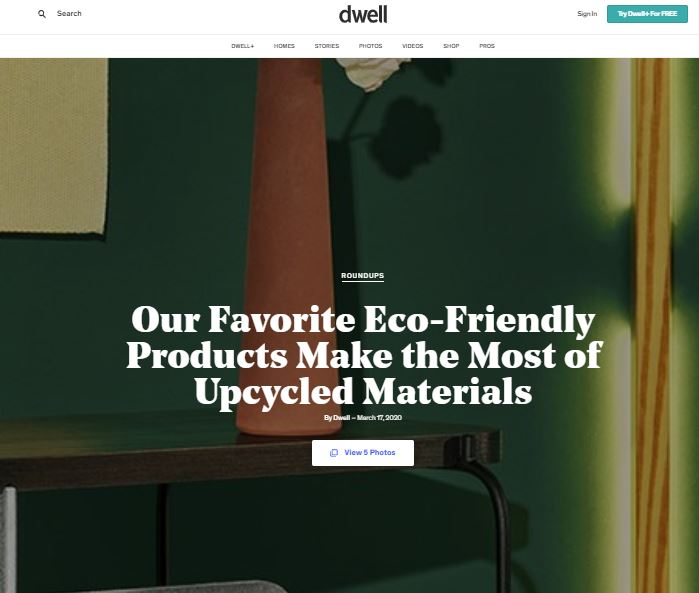 FÓLK among Dwell's favourite Eco-Friendly Products