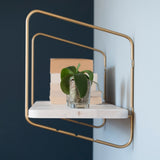 Nomad Wall Shelf / 94x24 cm / Gold / White