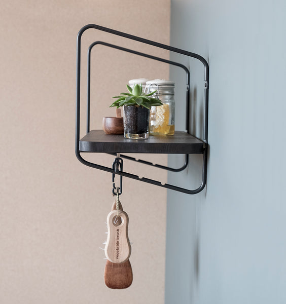 Nomad Wall Shelf / 68x24 cm / Black / Black