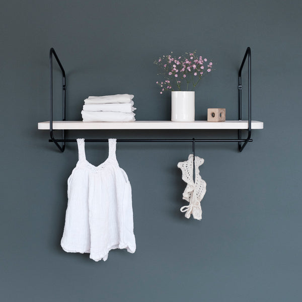 Nomad Wall Shelf / 68x24 cm / Black / White