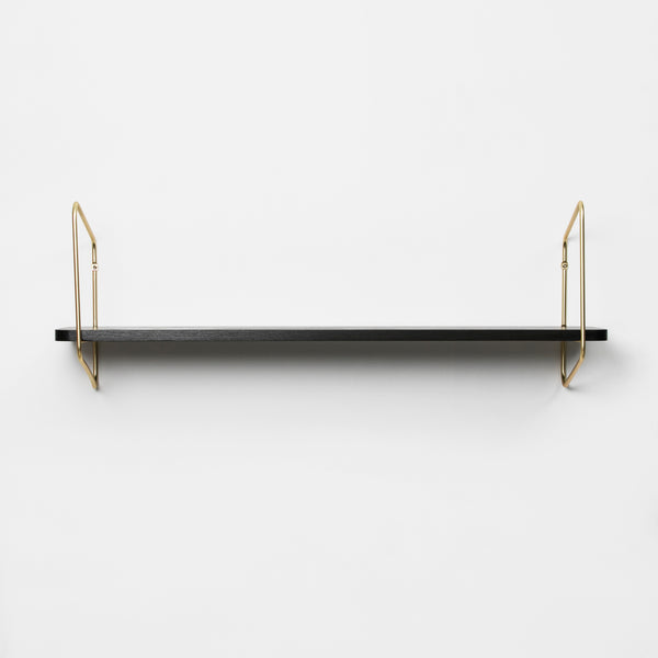 Nomad Wall Shelf / 94x24 cm / Gold / Black