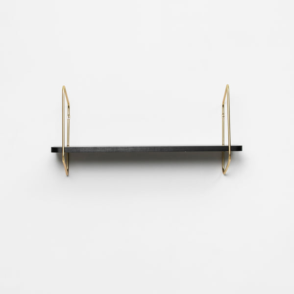 Nomad Wall Shelf / 68x24 cm / Gold / Black