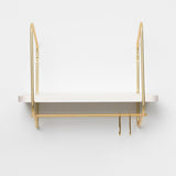Nomad Wall Shelf / 42x24 cm / Gold / White