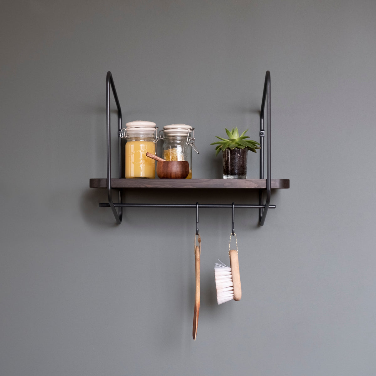 Urban Nomad Wall Shelf / 42x24 cm / Black / Black