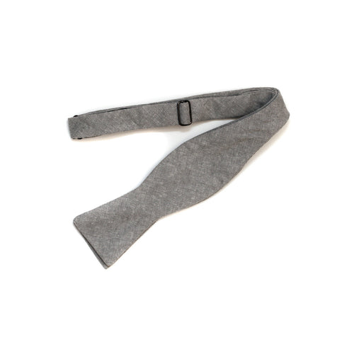 Bow Tie in Light Grey Linen