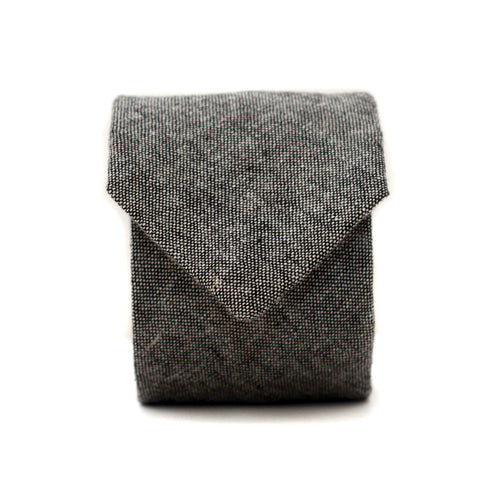 Neck Tie in Grayscale Cotton