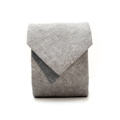 Neck Tie in Light Grey Linen