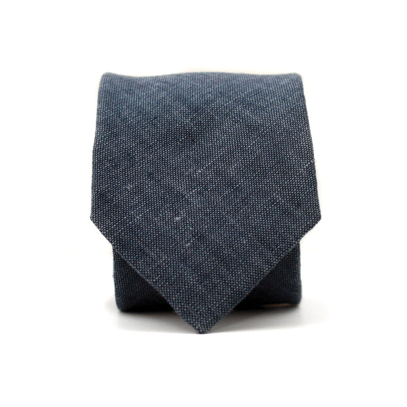 Neck Tie in Light Indigo Linen