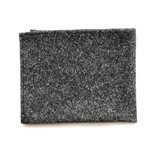 Pocket Square in Salt & Pepper Wool