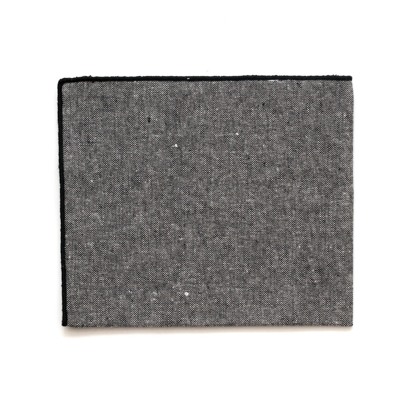 Pocket Square in Grayscale Cotton