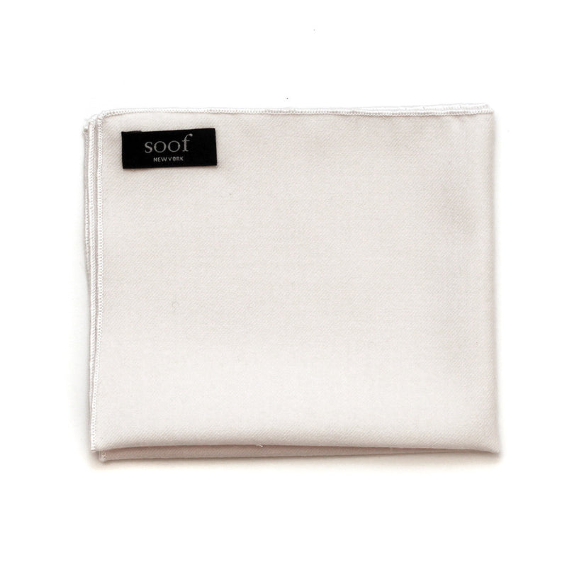 Pocket Square in White Wool