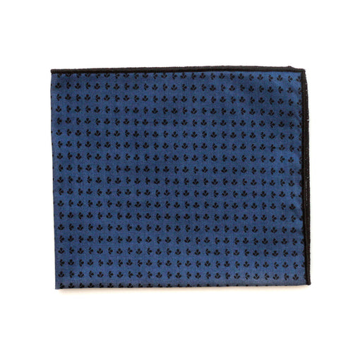 Pocket Square in Midnight Trefle Cotton