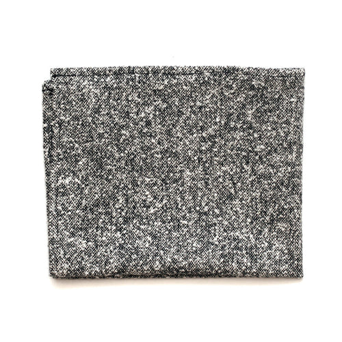 Pocket Square in Grey Donegal Wool